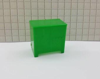 Marx Livingroom TV Radio Green Furniture  Dollhouse Traditional Style Hard Plastic