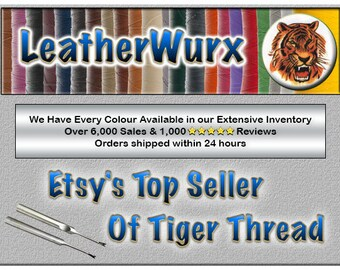 1.0mm Tiger Thread, the BEST for Hand Sewing Leather - Also known as Ritza 25