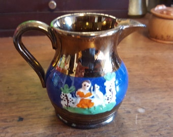 Small Lustre Ware Pitcher with Decoration