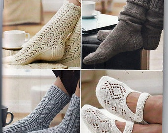 Next Steps Four Socks and Slippers Pattern Booklet Patons 500861