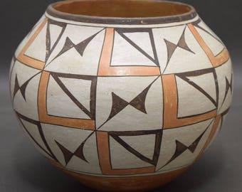 Native American, Historic Poly Chrome Acoma Pottery Jar, Ca 1920's, #1271