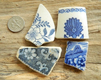 Genuine beach found pottery shards in assorted colours