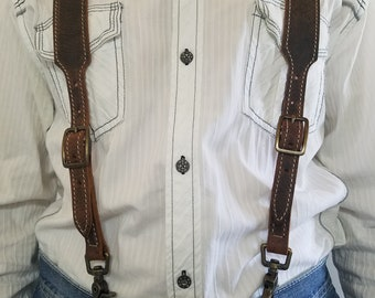 Mens Stitched Vintage Suspenders #5800