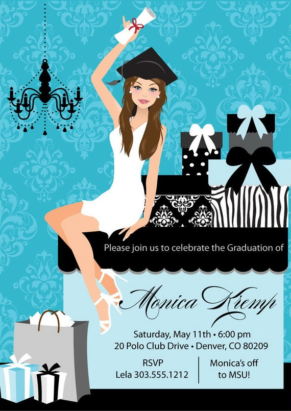 College Graduation Party Invitation DIY High School Grad