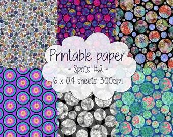 Printable paper: Spotty set #2
