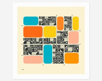 SYSTEMS 22 (Giclée Fine Art Print/Photo Print/Poster Print) Minimal Geometric Abstract Art