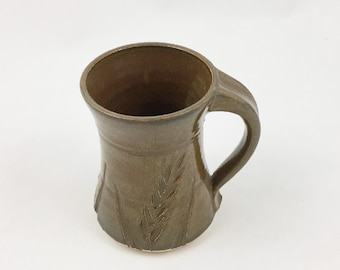Pottery Mug Wheat Brown 10 ounce Handmade by Daisy Friesen