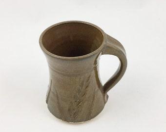 Pottery Mug Wheat Brown 10 ounce Handmade by Daisy Friesen