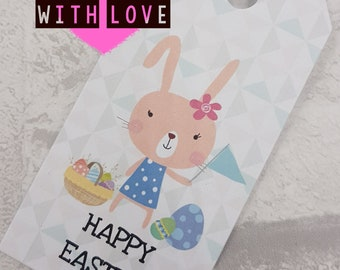Easter gift tags , Egg hunt , Easter hunt , Bunny , Cute , Label , Happy Easter
