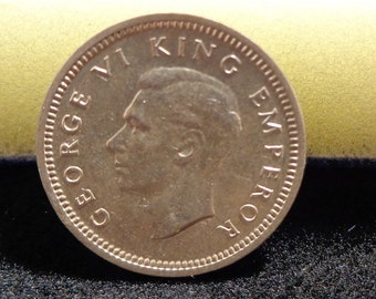 1939 New Zealand 3 Pence - Uncirculated Silver Coin