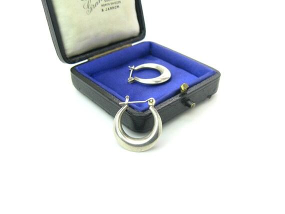 Small Sterling Silver Vintage Hoop Earrings