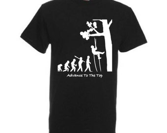 Tree surgery  arborist personalised  t shirts