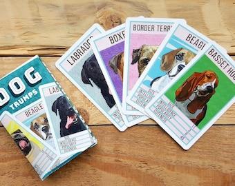 Dog Trumps, Dog Game, Trumps Card Game, Dog Lover, Kids Game, Gift For Children, Children Activity, Birthday Gift, Dog Lover Gift,