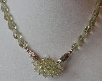 Lemon Quartz beaded necklace  -  20