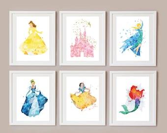 Disney Princess Watercolours