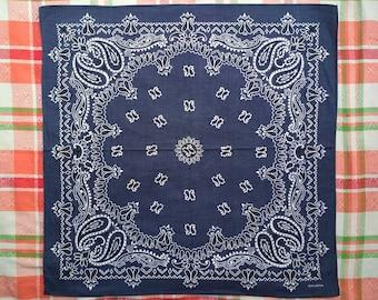 Free Shipping no09959 Indigo 100 Percent Cotton Vintage Bandana