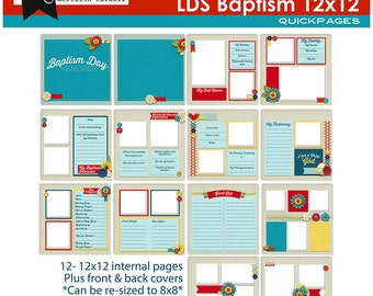 LDS Baptism Album 12x12