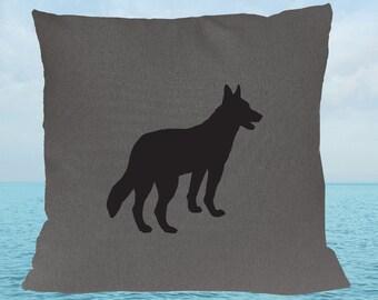 Kelpie Gray Charcoal Grey Cotton Cushion Cover