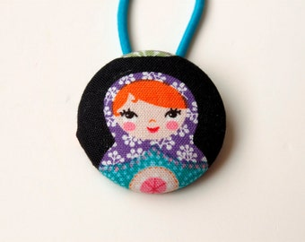 Giant Russian Doll Fabric Covered Button Pony Holder