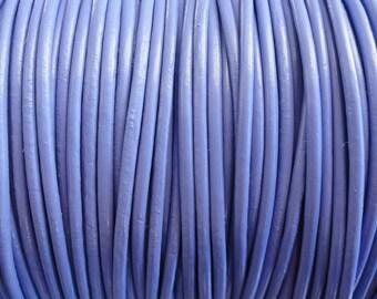 2mm Periwinkle Purple Genuine Leather Cord - 2 Yard Increments