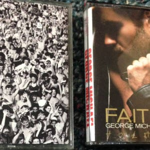 George Michael (2) audio cassette tapes: FAITH + Listen Without Prejudice