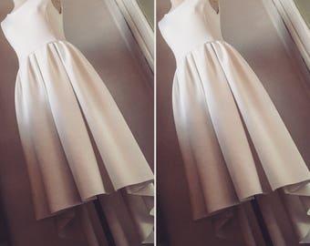 Gorgeous neoprene white dress