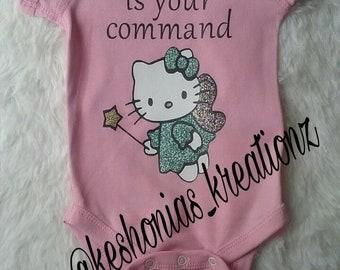 Hello Kitty Glitter Bodysuit Onesie