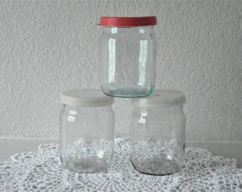 Vintage Russian Soviet bottle glass Authentic USSR Half Liter Jar 1/5 L Jar Russian Vintage home decor for Kitchen Soviet era kitchen jar