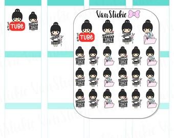 Chibit - YouTuber Planner Stickers | VSC 030