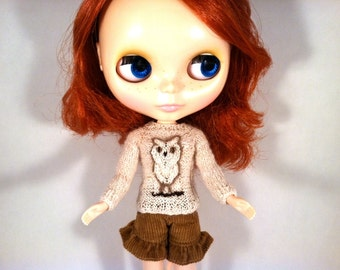 Blythe Knitting Pattern PDF Knit Owl Sweater