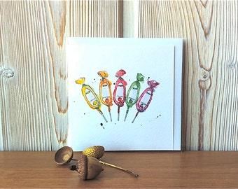 Card -  French Lollipops - Illustration - Sucettes Barnier - Art