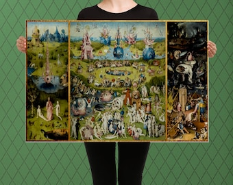 The Garden of Earthly Delights,  Hieronymus Bosch, 1495 Vintage, Custom Raised Canvas Art Piece