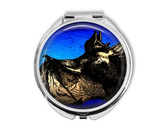Bat Compact Mirror Pocket Mirror Large Gifts for her