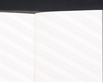 Traveller's Notebook LEFT Handed Diagonal Music Inserts - STANDARD size Midori style printable. Diagonally lined notepaper for lefties.