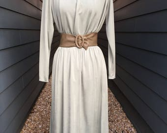 Couturier John Anthony Prêt two piece // Silk Two piece // Silk Two piece with leather belt