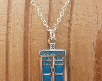 Tardis Police Box Necklace - Doctor Who