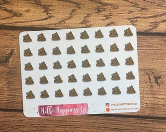 MINI Poop Stickers- Mini Stickers - Planner Stickers - Functional Stickers