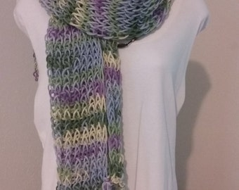 Loom knit scarfs,Neck warmer, Wrap around scarf. Ready to ship!