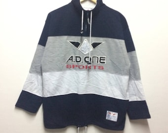 Rare!! A.D.ONE sports sweatshirt