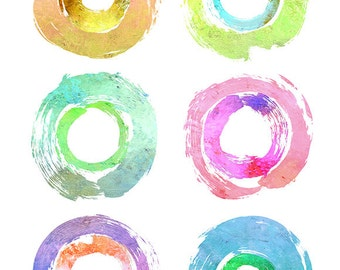 Modern Art, Contemporary Print, CIRCLES PALETTE #1, Abstract Circles Print, Abstract Circles Artwork, Minimalist Art Print, Color Artwork