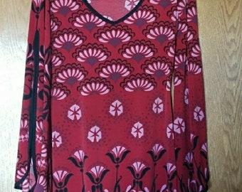 Bisou Bisou red tunic