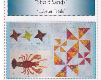 Lobster Tails, Robin's Quilt Nest, Short Sands Block of the Month Quilt Pattern Series, Block 4, Lobster & Pinwheels