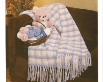 Crochet Baby Afghan Pdf /Wee Bonnie Plaid /OhhhBabyBaby/ Vintage Pattern Instant Download Pdf