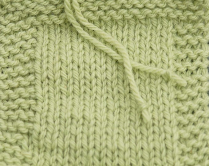 Celadon 2 ply wool worsted weight kettle dyed farm yarn