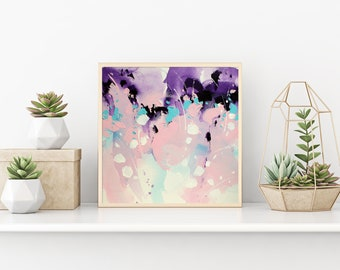 Abstract painting Abstract art Pink painting Gift for women wall art Modern Art Work Art PRINT Landscape painting Paintings Giclee PRINT
