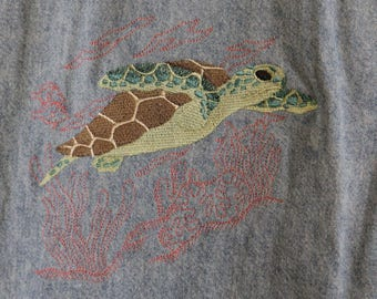 Levis Denim Shirt-with Embroidered Sea Turtle