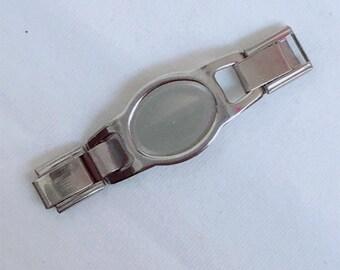 100 pcs blank oval shoelace charm paracord charm connectors for 9mm italian charm bracelet BC09