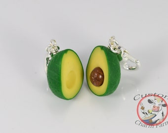 Avocado Charm for your Bracelet / Zipper / Bag or wherever!! Cute Miniature Food Jewelry by Custom Charm Farm