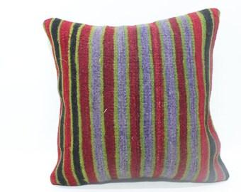 striped kilim pillow multı color kilim pillow home decor kilim pillow 18x18 colored kilim pillow 18x18 home living unique pillow  MD 267