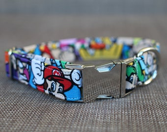 Super Mario Bros Collar, Dog Collar, Male Dog Collar, Large Dog Collar, Pet Collar, Large Dog Collar Boy, Female Dog Collar, Pet Lover